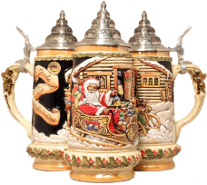 German Holiday Beer Stein -LE -  Santa's Sleigh .5L