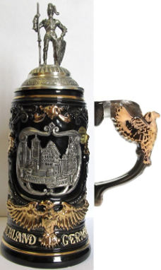 Pewter Knight Lid LE Beer Stein .6L