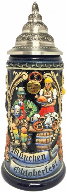 Munich Bavarian Oktoberfest LE German Beer Stein .75L