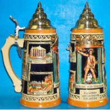 German Beer Stein - LE - Seven Wonders of the World 1L