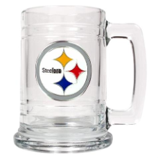Pittsburgh Steelers 15 oz. Glass Mug