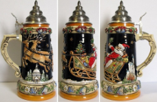 Christmas Reindeer - LE - German Beer Stein .75L