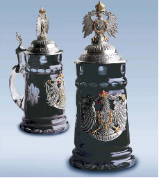 German Beer Stein - LE - Germany Black Crystal .5L