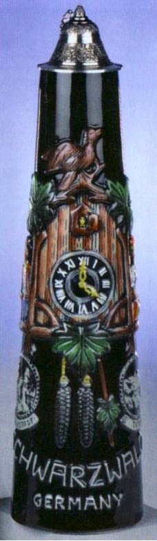 German Beer Stein - 2L Cuckoo Clock