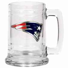 New England Patriots 15 oz. Glass Mug