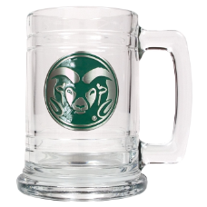 Colorado State Rams Decorated Glass Mug