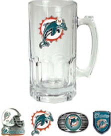Miami Dolphins Large Glass Mug