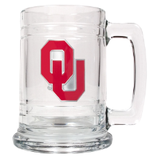 Oklahoma Sooners Glass Mug