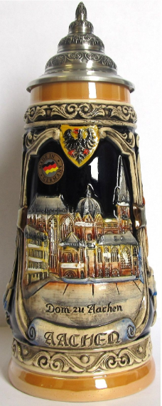 Aachen City Scenes - LE - German Beer Stein .5L