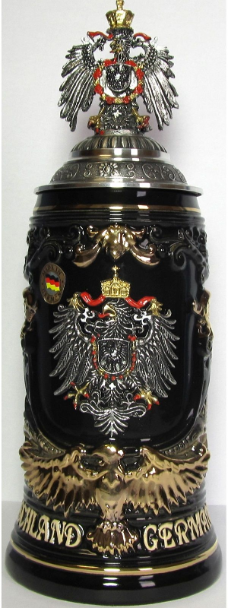 Pewter Eagle Lid LE German Beer Stein .6L