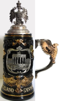 Berlin Pewter Eagle Lid LE Beer Stein .6L