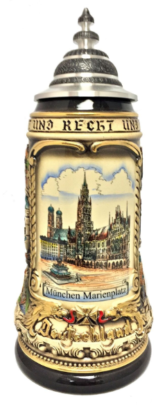Munich Central Square  with Cities LE  Beer Stein 1L