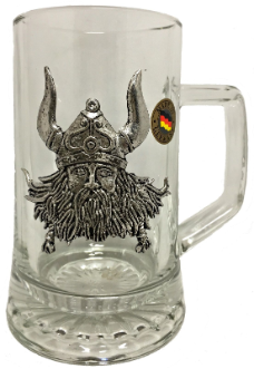 Pewter Viking Wearing Helmet Mug