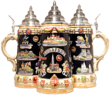 German Beer Stein - LE - Budapest Hungary Panorama .75L