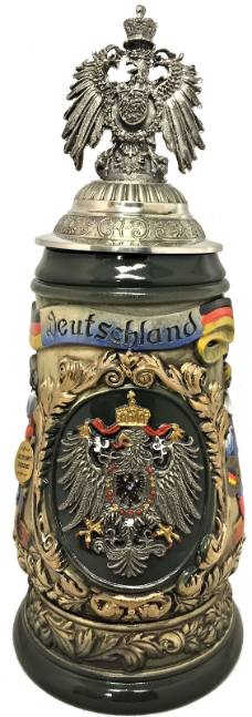 3D Pewter Eagle Lid LE Relief German Beer Stein 1 L
