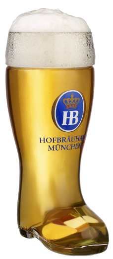 Hofbrauhaus Munchen Munich German Glass Beer Boot .5 L