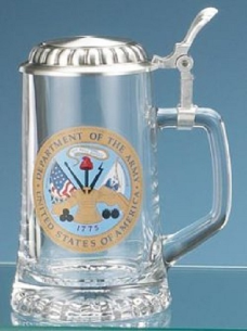 Glass Beer Stein - US Army