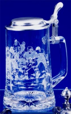 Football Glass Beer Stein