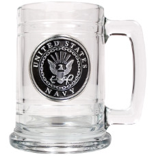 Navy 15 oz. Glass Mug