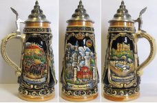 Neuschwanstein Castle LE Relief German Beer Stein .5 L