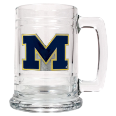 Michigan Wolverines Glass Mug