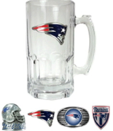 New England Patriots Large Glass Mug