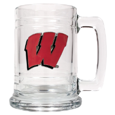Wisconsin Badgers Glass Beer Mug