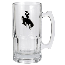 Wyoming Cowboys Glass Mug