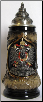 Black and Gold Eagle Crest Souvenir Beer Stein