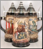 Denmark Viking Ship German Beer Stein .5L