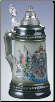 German Beer Stein - Eagle with Germany Flags  1/4L