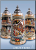 Panoramic Christmas Market LE German Beer Stein .75L