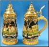 German Beer Stein -LE -  Bran Dracula Castle Romania 1/4L