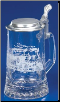 German Beer Stein - Glass Railroad Stein .4L