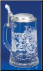 Glass Beer Stein - Motorcycle