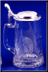 German Beer Stein - Glass Sailing Stein