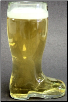 Large One Liter Glass Beer Boot