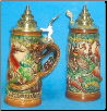 Hunter's German Beer Stein with Fox Handle  .4L
