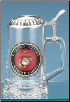 Glass Beer Stein - US Marines
