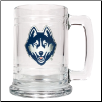 UConn Huskies Glass Mug