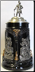 Jousting Pewter Knight Lid - LE - German Beer Stein .5L