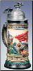 German Beer Stein - LE - Red Baron's Plane on Lid