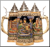 German Beer Stein - LE -  Mosel River Castles .5L