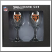 Chicago Bears Wine Glass Set
