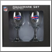 Buffalo Bills Glass Wine Set