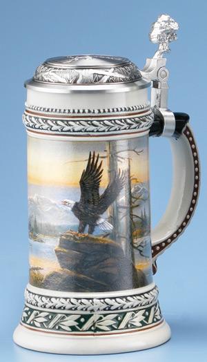 German Beer Stein Eagle