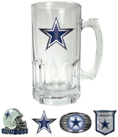 Dallas Cowboys Large Glass Mug
